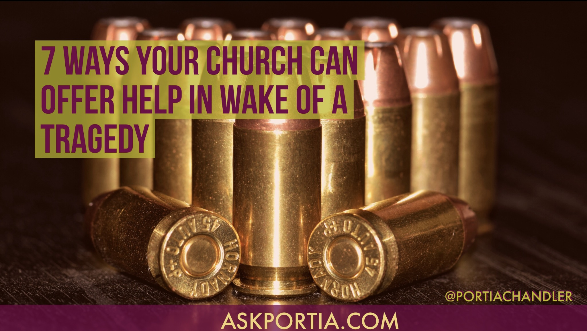 7 Ways Your Church can help in wake of a tragedy]